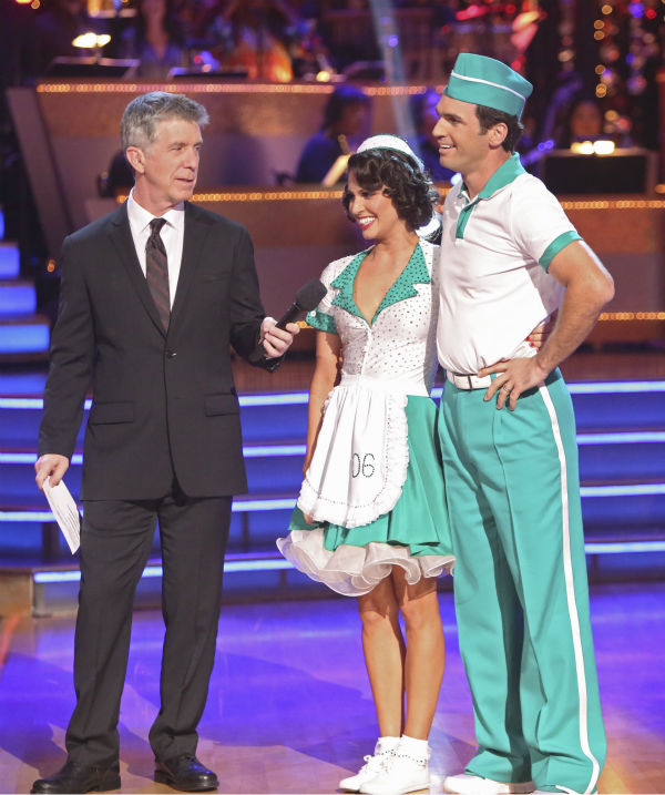 "<div class=""meta ""><span class=""caption-text "">Reality star Melissa Rycroft and her partner Tony Dovolani received 37 out of 40 points from the judges for their Jitterbug on 'Dancing With The Stars: All-Stars' on October 15, 2012. (ABC Photo / Adam Taylor)</span></div>"
