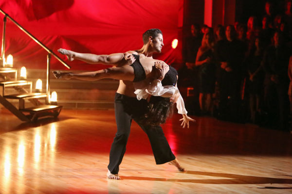 "<div class=""meta ""><span class=""caption-text "">'General Hospital' actress Kelly Monaco and her partner Valentin Chmerkovskiy received 37.5 out of 40 points from the judges for their Contemporary on 'Dancing With The Stars: All-Stars,' which aired on October 15, 2012. (ABC Photo / Adam Taylor)</span></div>"