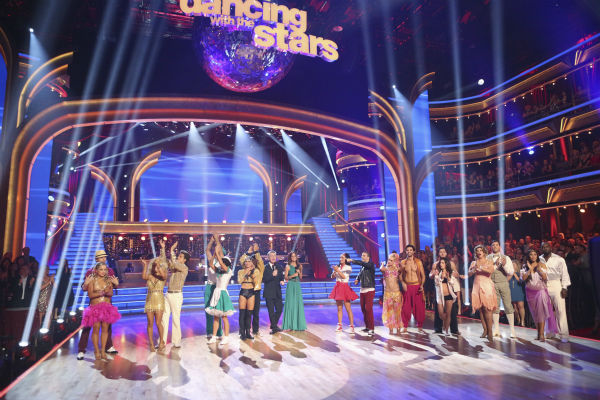 The cast of 'Dancing With The Stars: All-Stars' appears on stage on October 15, 2012.