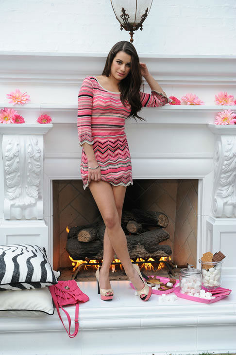 Lea Michele appears in a promotional photo taken for a new ad campaign for Candie's apparel that was unveiled in Jan. 25, 2012.