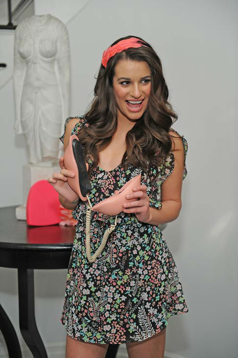 Lea Michele appears in a promotional photo taken...