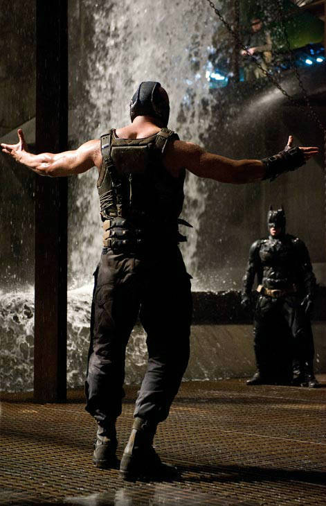 Tom Hardy appears as Bane in 'The Dark Knight...