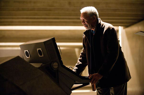 Morgan Freeman as Lucius Fox in 'The Dark Knight...