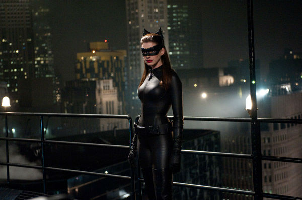 Anne Hathaway appears as Selina Kyle/Catwoman in...