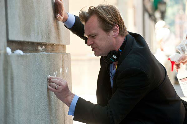 Director Christopher Nolan on the set of 'The Dark Knight Rises,' set to hit theaters on July 20, 2012.