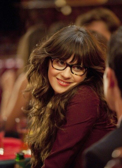 Zooey Deschanel appears in a promotional photo for 'New Girl' in