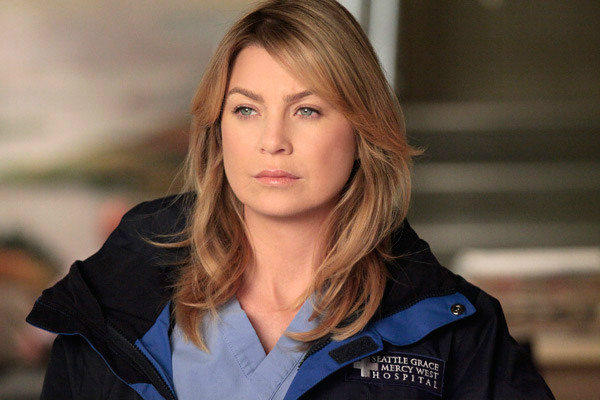 Ellen Pompeo appears in a promotional photo for 'Grey's Anatomy' in 2012.