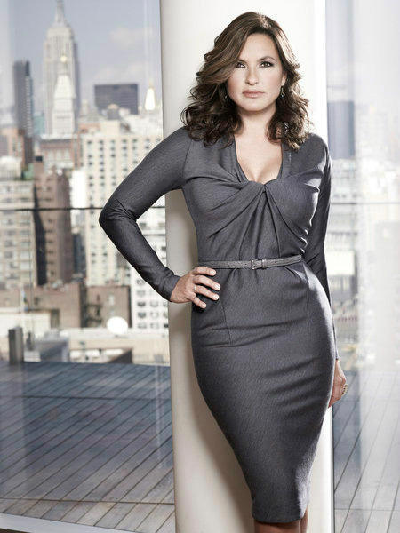 Mariska Hargitay appears in a promotional photo for 'Law & Order: Special Victims Unit' in 2012.