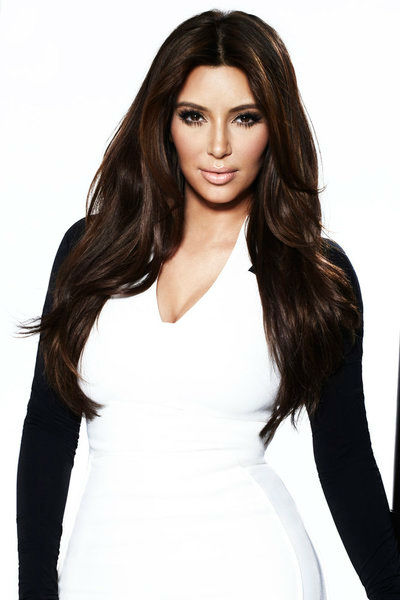 Kim Kardashian appears in a promotional photo in 2012 for 'Keeping Up With The Kardashians.'