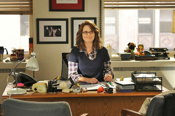Tina Fey as Liz Lemon in a '30 Rock' promotional photo in 2012.