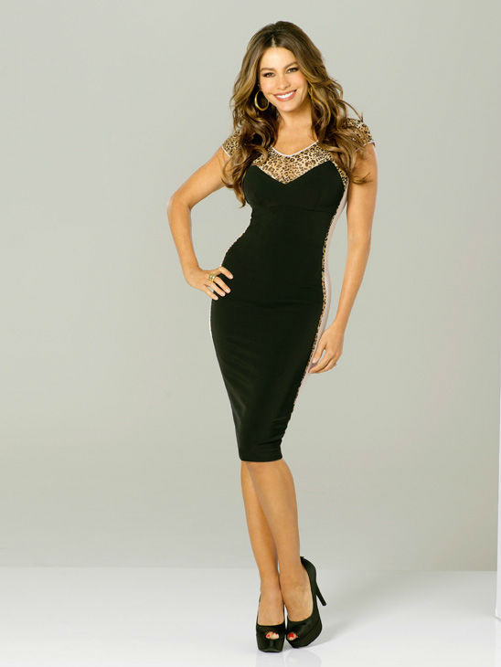 Sofia Vergara appears in a promotional photo for season 3 of 'Modern Family' in 2011.