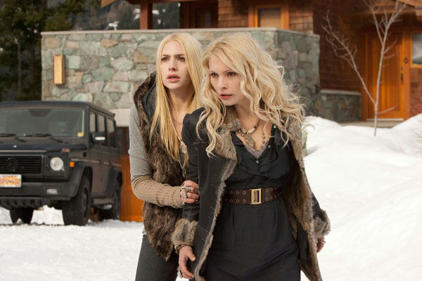 Casey LaBow and MyAnna Buring appear in a scene from the 2012 movie 'Twilight: Breaking Dawn - Part 2.'