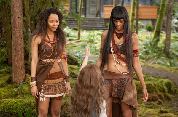 Tracey Heggins and Judith Shekoni appear in a scene from the 2012 movie 'Twilight: Breaking Dawn - Part 2.'