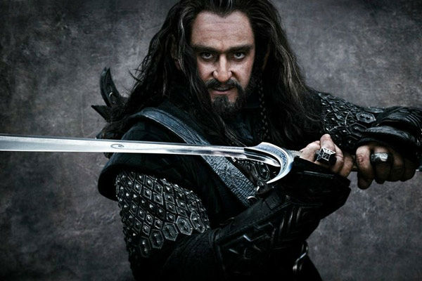 Richard Armitage appears as Thorin Oakenshield in a promotional photo for 'The Hobbit: An Unexpected Journey,' a 2012 Warner Bros. Pictures release. It is the first of a three-part prequel to the hit 'Lord of the Rings' franchise.