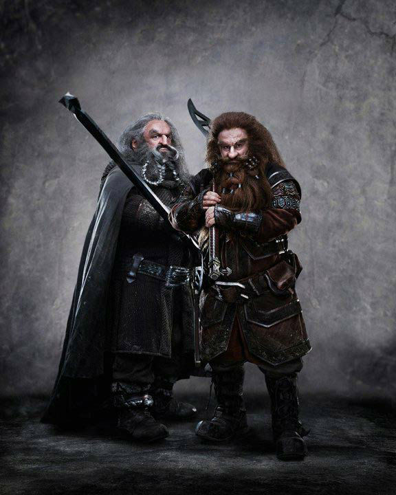 "<div class=""meta image-caption""><div class=""origin-logo origin-image ""><span></span></div><span class=""caption-text"">John Callen appears as Oin and Peter Hambleton as Gloin in a promotional photo for 'The Hobbit: An Unexpected Journey,' a 2012 Warner Bros. Pictures release. It is the first of a three-part prequel to the hit 'Lord of the Rings' franchise. (New Line Cinema / MGM / James Fisher)</span></div>"