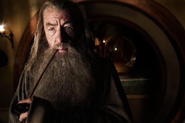 Ian McKellen reprises his role as Gandalf the wizard in New Line Cinema's and MGM's fantasy adventure 'the Hobbit: An Unexpected Journey,' a 2012 Warner Bros. Pictures release.