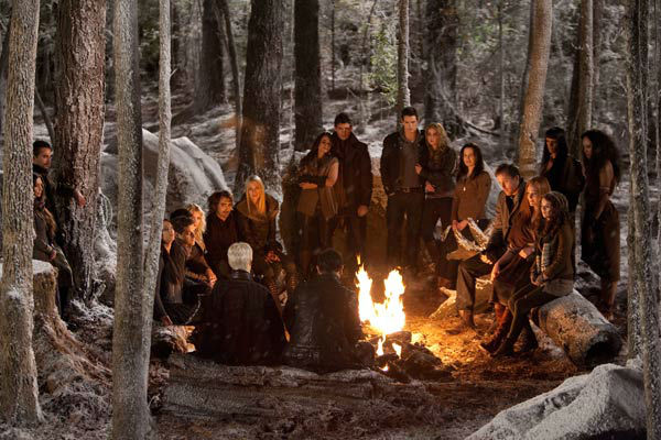The cast appears in a scene from the 2012 movie 'Twilight: Breaking Dawn - Part 2,' which opens in theaters o