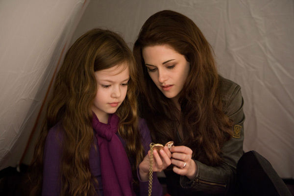 Kristen Stewart and Mackenzie Foy appear in a scene from the 2012 movie 'Twilight: Breaking Dawn - Part 2,' which opens in theaters on November 16, 2012.