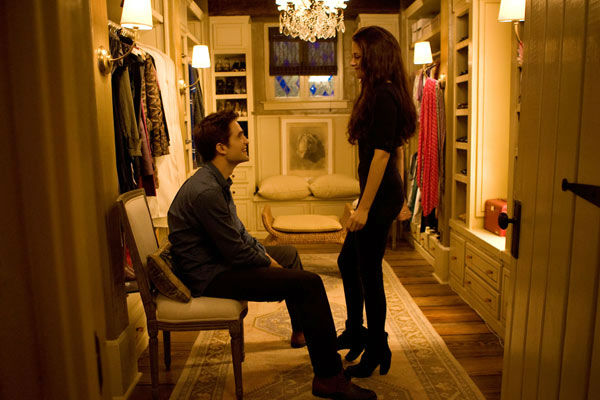 Kristen Stewart and Robert Pattinson appear in a scene from the 2012 movie 'Twilight: Breaking Dawn - Part 2,' which opens i