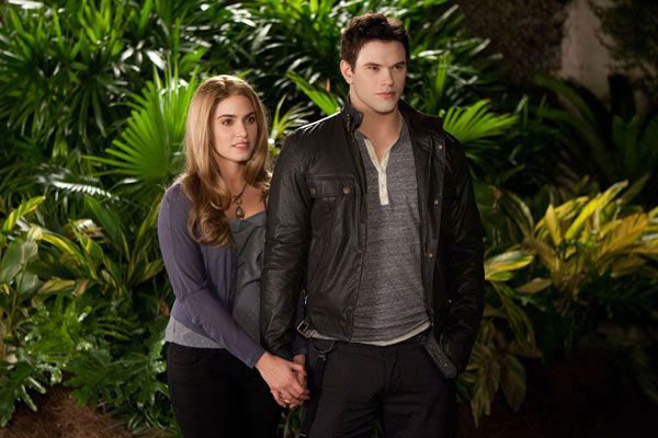 Nikki Reed and Kellan Lutz appear in a still...