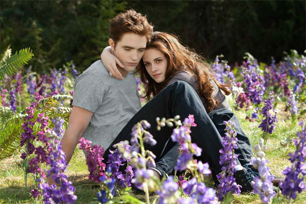 Kristen Stewart and Robert Pattinson appear in a scene from the 2012 movie 'Twilight: Breaking Dawn - Part 2,' which opens in theat