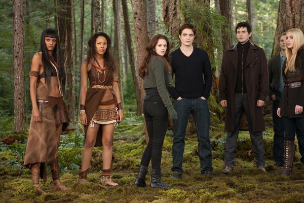 Judith Shekoni, Tracey Heggins, Kristen Stewart, Robert Pattinson, Christian Camargo, Peter Facinelli and Casey LaBow appear in a still from 'The Twilight Saga: Breaking Dawn - Part 2,' which opens in theaters