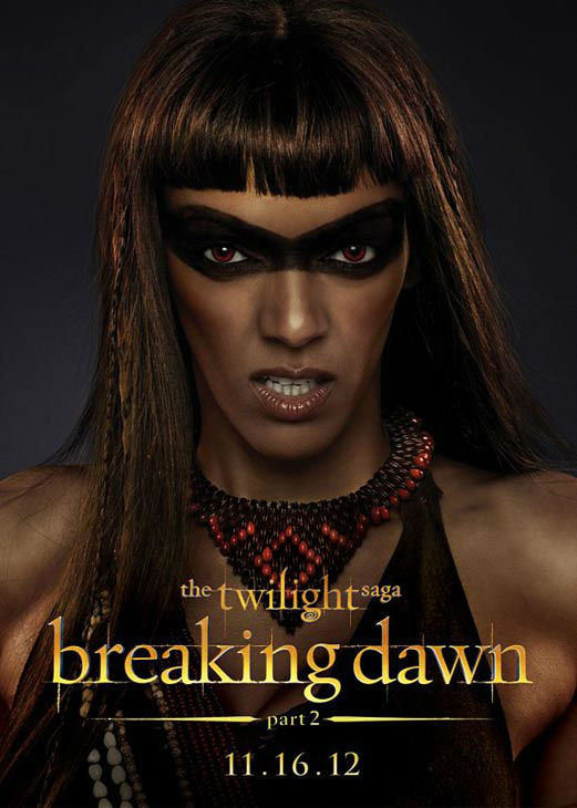 "<div class=""meta ""><span class=""caption-text "">Judith Shekoni who portrays Zafrina of the Amazon coven in 'The Twilight Saga: Breaking Dawn - Part 2,' appears in a cast poster for the film, which is slated for release on November 16, 2012. (Photo/Summit Entertainment)</span></div>"