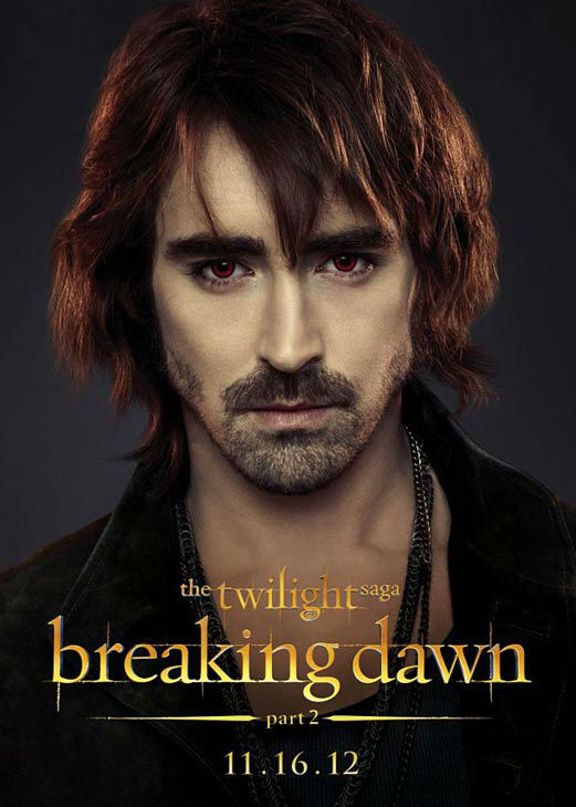 Lee Pace, who portrays American nomad Garrett in 'The Twilight Saga: Breaking Dawn - Part 2,' appears in a cast poster for the film, which is slated for release on November 16, 2012.