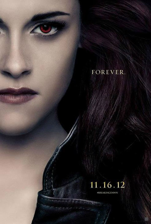 "<div class=""meta ""><span class=""caption-text "">Kristen Stewart, who portrays Bella Cullen in 'The Twilight Saga: Breaking Dawn - Part 2,' appears in a cast poster for the film, which is slated for release on November 16, 2012. (Photo/Summit Entertainment)</span></div>"