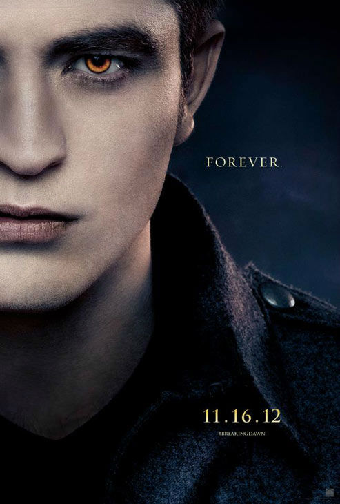 Robert Pattinson, who portrays Edward Cullen in 'The Twilight Saga: Breaking Dawn - Part 2,' appears in a cast poster for the film, which is slated for release on November 16, 2012.