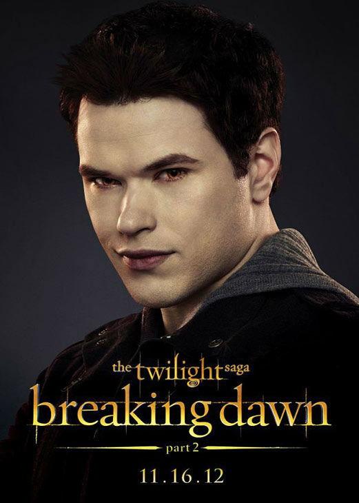 Kellan Lutz, who portrays Emmett Cullen in 'The Twilight Saga: Breaking Dawn - Part 2,' appears in a cast poster for the film, which is slated for release on November 16, 2012.