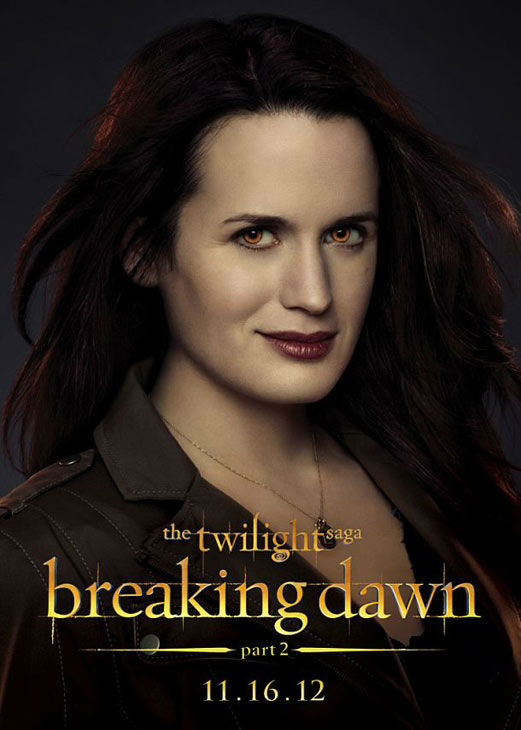 Elizabeth Reaser, who portrays Esme Cullen in 'The Twilight Saga: Breaking Dawn - Part 2,' appears in a cast poster for the film, which is slated for release on November 16, 2012.