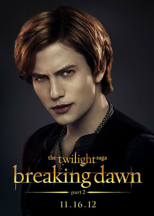Jackson Rathbone, who portrays Jasper Hale in 'The Twilight Saga: Breaking Dawn - Part 2,' appears in a cast poster for the film, which is slated for release on November 16, 2012.