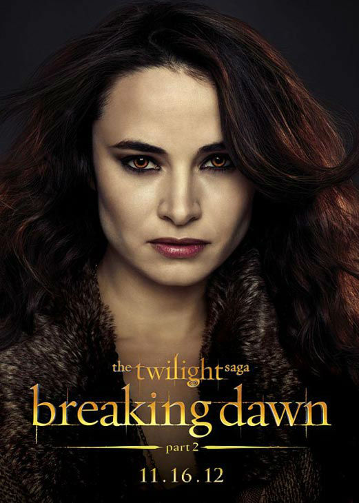 Mia Maestro who portrays Carmen of the Denali clan in 'The Twilight Saga: Breaking Dawn - Part 2,' appears in a cast poster for the film, which is slated for release on November 16, 2012.