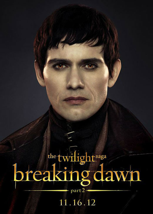 "<div class=""meta ""><span class=""caption-text "">Christian Camargo who portrays Eleazer of the Denali clan in 'The Twilight Saga: Breaking Dawn - Part 2,' appears in a cast poster for the film, which is slated for release on November 16, 2012. (Photo/Summit Entertainment)</span></div>"