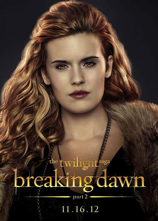 "<div class=""meta ""><span class=""caption-text "">Maggie Grace who portrays Irina of the Denali clan in 'The Twilight Saga: Breaking Dawn - Part 2,' appears in a cast poster for the film, which is slated for release on November 16, 2012. (Photo/Summit Entertainment)</span></div>"
