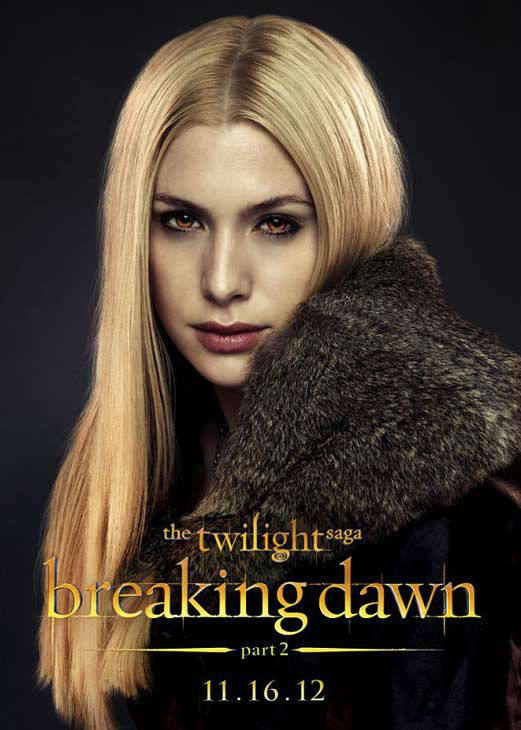 Casey LaBow who portrays Kate of the Denali clan in 'The Twilight Saga: Breaking Dawn - Part 2,' appears in a cast poster for the film, which is slated for release on November 16, 2012.
