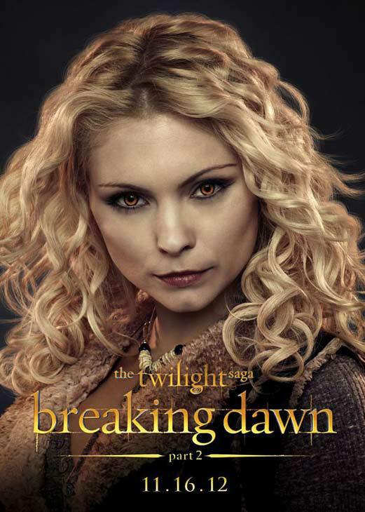 MyAnna Buring who portrays Tanya of the Denali clan in 'The Twilight Saga: Breaking Dawn - Part 2,' appears in a cast poster for the film, which is slated for release on November 16, 2012.