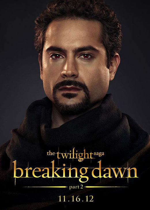 Omar Metwally who portrays Amun of the Egyptian coven in 'The Twilight Saga: Breaking Dawn - Part 2,' appears in a cast poster for the film, which is slated for release on November 16, 2012.