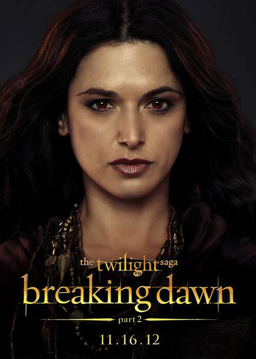 Andrea Gabriel who portrays Kebi of the Egyptian coven in 'The Twilight Saga: Breaking Dawn - Part 2,' appears in a cast poster for the film, which is slated for release on November 16, 2012.