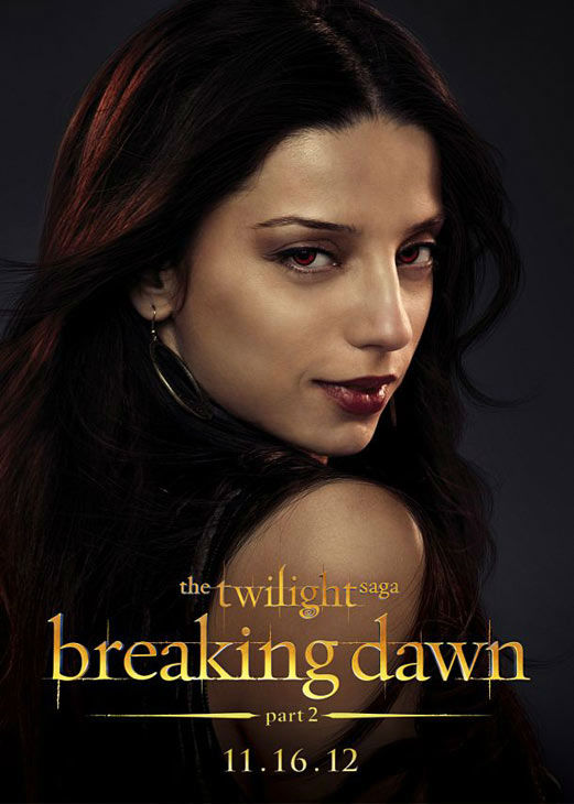 Angela Sarafyan who portrays Tia of the Egyptian coven in 'The Twilight Saga: Breaking Dawn - Part 2,' appears in a cast poster for the film, which is slated for release on November 16, 2012.