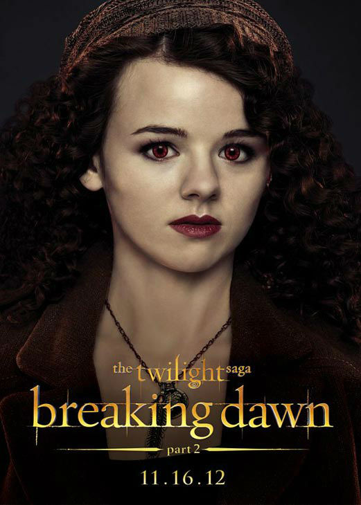 "<div class=""meta ""><span class=""caption-text "">Marlane Barnes who portrays Maggie of the Irish coven in 'The Twilight Saga: Breaking Dawn - Part 2,' appears in a cast poster for the film, which is slated for release on November 16, 2012. (Photo/Summit Entertainment)</span></div>"