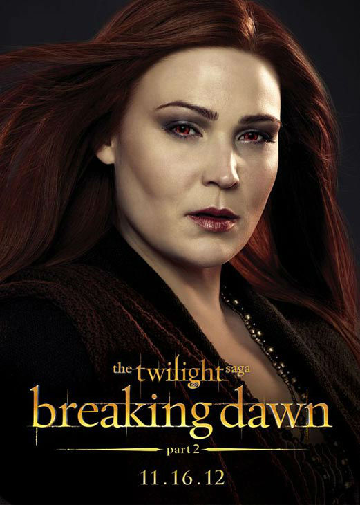 "<div class=""meta ""><span class=""caption-text "">Lisa Howard who portrays Siobhan of the Irish coven in 'The Twilight Saga: Breaking Dawn - Part 2,' appears in a cast poster for the film, which is slated for release on November 16, 2012. (Photo/Summit Entertainment)</span></div>"