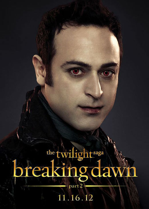 Guri Weinberg who portrays Stefan of the Romanian coven in &#39;The Twilight Saga: Breaking Dawn - Part 2,&#39; appears in a cast poster for the film, which is slated for release on November 16, 2012. <span class=meta>(Photo&#47;Summit Entertainment)</span>