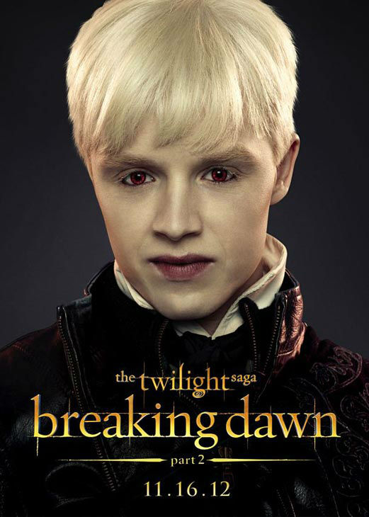 Noel Fisher who portrays Vladimir of the Romanian coven in 'The Twilight Saga: Breaking Dawn - Part 2,' appears in a cast poster for the film, which is slated for release on November 16, 2012.