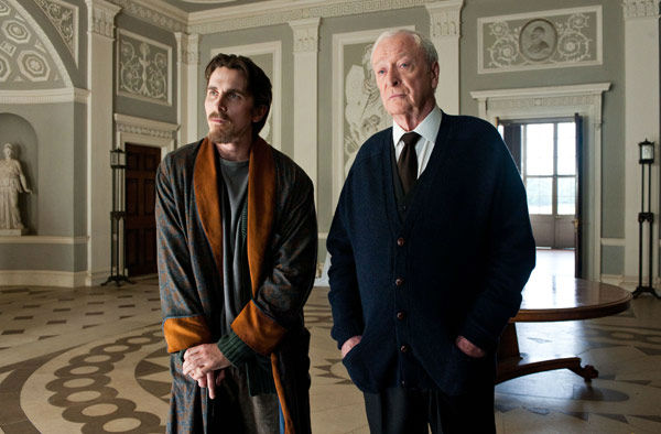 "<div class=""meta ""><span class=""caption-text "">Christian Bale appears as Bruce Wayne and Michael Caine as Alfred in 'The Dark Knight Rises,' set to hit theaters on July 20, 2012. (Warner Bros. Pictures/Ron Phillips)</span></div>"