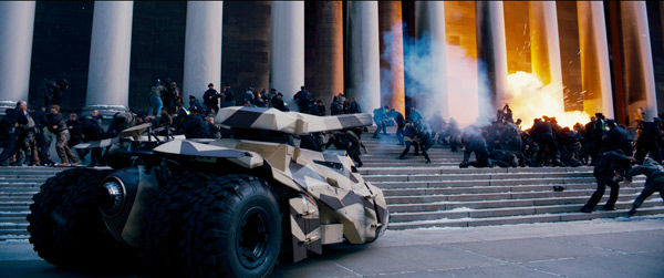 A scene from 'The Dark Knight Rises,' set to hit theaters on July 20, 2012.