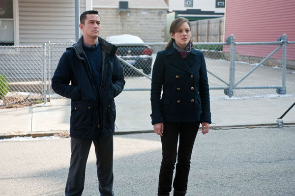 "<div class=""meta ""><span class=""caption-text "">Joseph Gordon Levitt appears as John Blake and Marion Cotillard as Miranda Tate in 'The Dark Knight Rises,' set to hit theaters on July 20, 2012. (Warner Bros. Pictures/Ron Phillips)</span></div>"