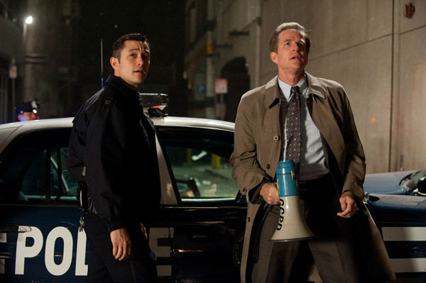 Joseph Gordon Levitt appears as John Blake and Matthew Modine as Foley in &#39;The Dark Knight Rises,&#39; set to hit theaters on July 20, 2012. <span class=meta>(Warner Bros. Pictures&#47;Ron Phillips)</span>
