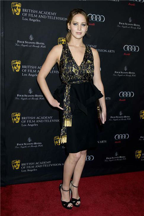 "<div class=""meta ""><span class=""caption-text "">Jennifer Lawrence appears at the Bafta 2013 Award Season Tea Party on Jan. 12, 2013. (JUSTIN CAMPBELL/startraksphoto.com)</span></div>"